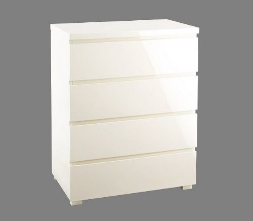 Cosmos Cream Gloss 4 Drawer Chest